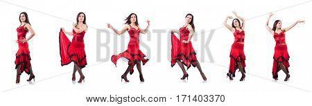 Female dancer dancing spanish dances