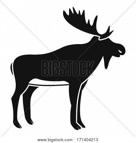 Deer icon. Simple illustration of deer vector icon for web