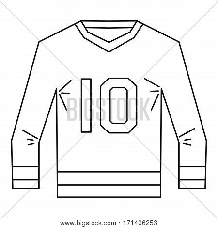 Sports shirt with the number 10 icon. Outline illustration of sports shirt with the number 10 vector icon for web