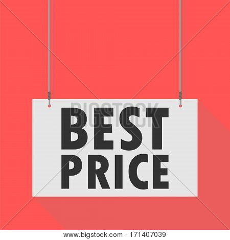 Hanging Sign best price on red background