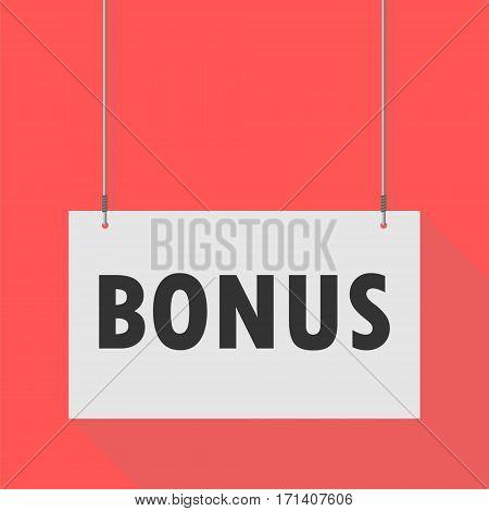 Simple Hanging Sign bonus on red background