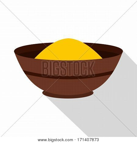 Curry spices icon. Flat illustration of curry spices vector icon for web isolated on white background