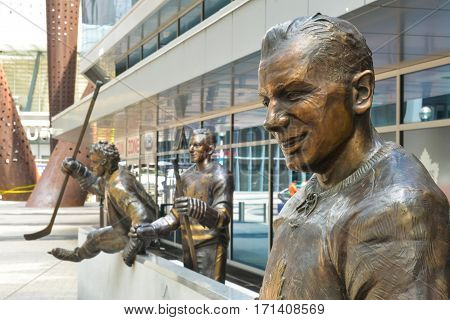 Hockey Player Monument In Toronto