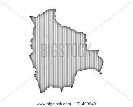 Map Of Bolivia On Corrugated Iron
