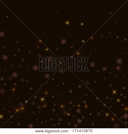 Sparse Starry Snow. Bottom Gradient On Black Background. Vector Illustration.