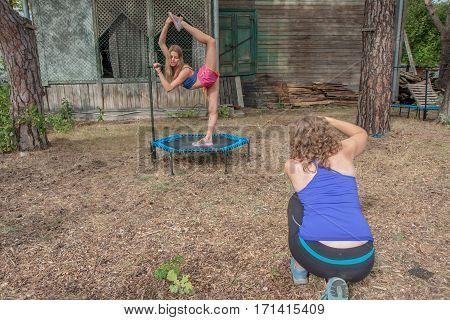 Women On A Springboard