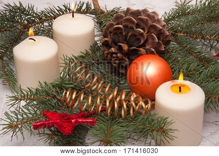 Christmas ornaments on the Christmas tree Poland