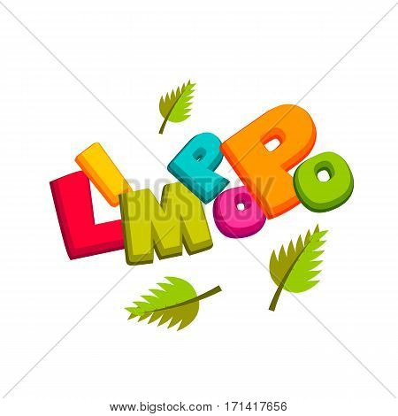 Lettering funny comic font Limpopo. Vector illustration background. Comics book balloon. Bubble icon comic speech phrase. Comic text sound effects. Cartoon tag expression.