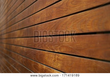 Wooden brown Planks in Perspective Background .