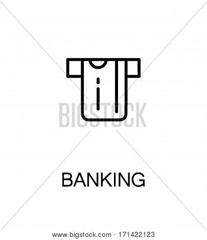 Banking icon. Single high quality outline symbol for web design or mobile app. Thin line sign for design logo. Black outline pictogram on white background