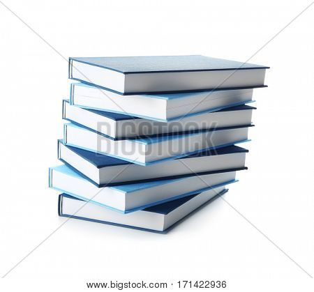 New books on white background