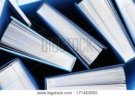 New books, closeup