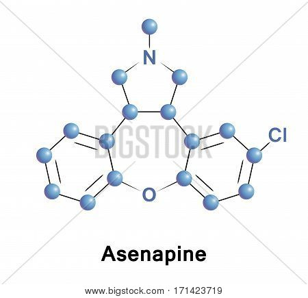 Asenapine is an atypical antipsychotic developed for the treatment of schizophrenia and acute mania associated with bipolar disorder.