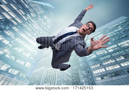 Businessman committing suicide due to crisis