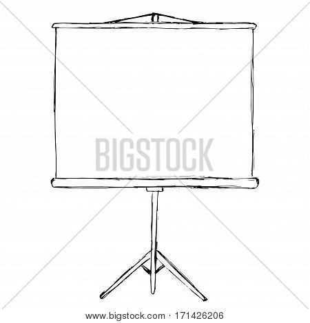 Flip chart isolated on white background. Sketch. Vector illustration