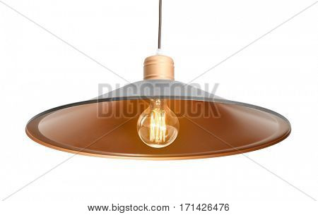 Modern pendant lamp on light background