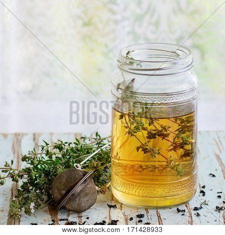 Hot Thyme Tea