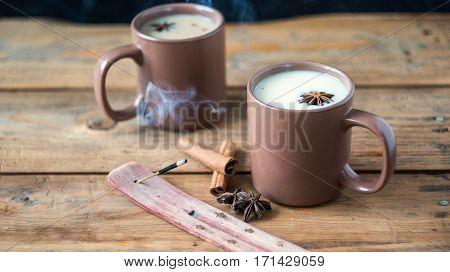 Traditional Indian Black Tea. Masala Tea. Spiced Tea With Milk