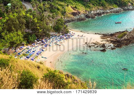 Aerial view of Kata Beach Phuket Thailand