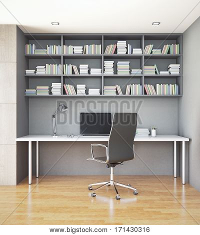 Workplace In Interior