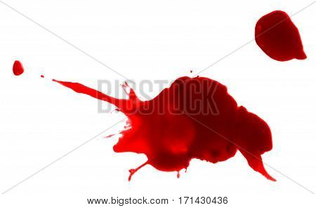 red paint drop splash artistic spot inkblot drip blood