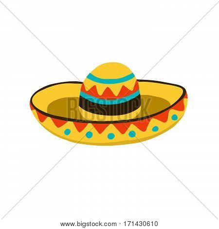 Traditional mexican hat symbol. Sombrero icon isolated on white background.