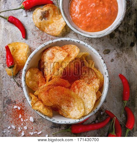 Potatoes Chips With Chili Peppers