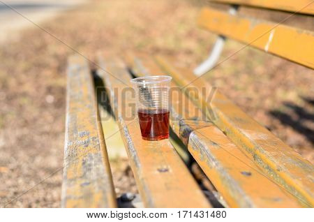 Plastic Cup With Red Beverage