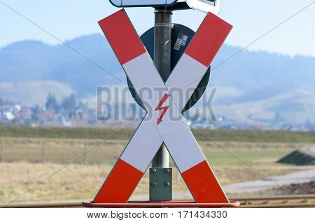 Wrong Direction Railroad Cross Sign