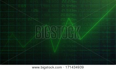 Stock market financial analysis indicator green background - High Resolution Image