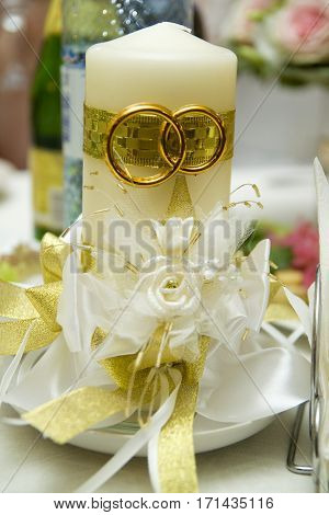 Wedding candle hearth family decorations wedding details