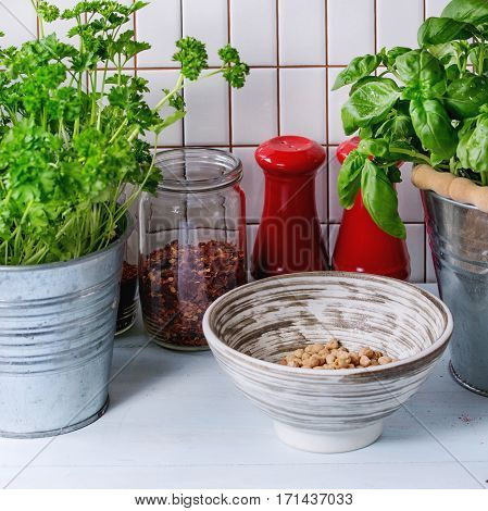 Herbs And Checkpeas