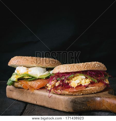 Bagels With Salmon And Egg