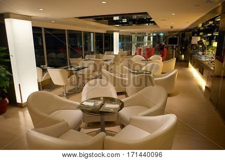 HONG KONG - CIRCA NOVEMBER, 2015: lounge at Regal Riverside Hotel in Sha Tin, New Territories.