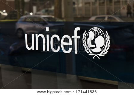 Letters Unicef On The Dutch Headquarter