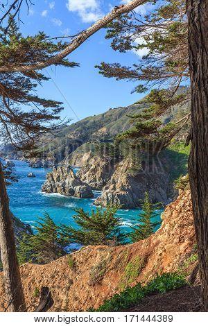 the rugged Big Sur California coast landscape