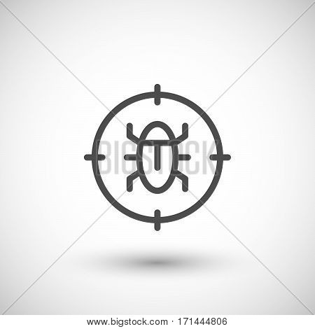 Disinfestation line icon isolated on grey. Vector illustration