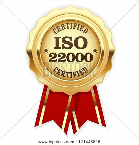 ISO 22000 standard certified rosette - Food safety management