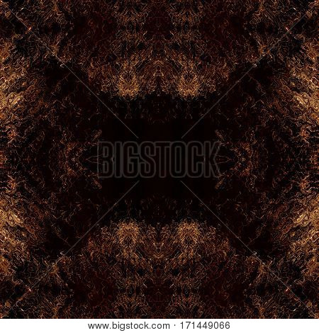 Messy brown abstract chaos background with empty space inside.Digitally generated image.