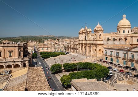 Noto Cathedral Is A Roman Catholic Cathedral In Noto In Sicily