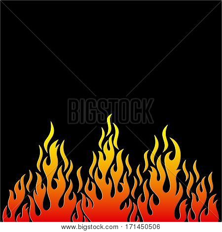 Colorful vector fire flame decorative design element isolated