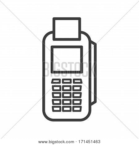 Card terminal linear icon. Thin line illustration. Vector isolated outline drawing