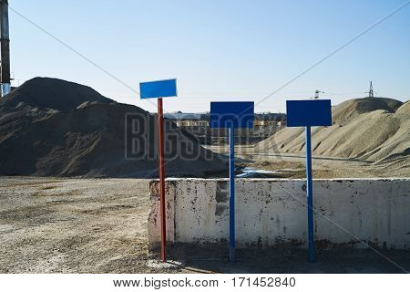 The mountains of gravel and sand.Extraction Minerals.safety concept.