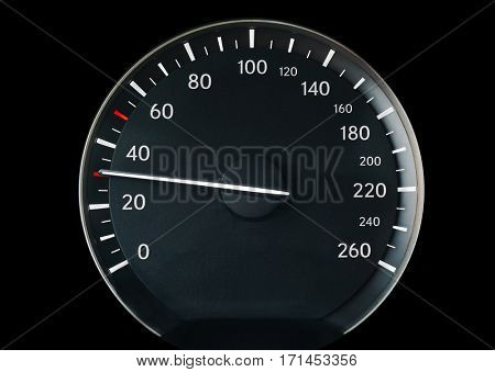 Speedometer of a car showing 30
