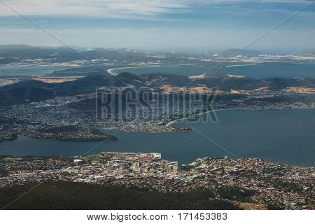 View of Hobart from Mount Wellington