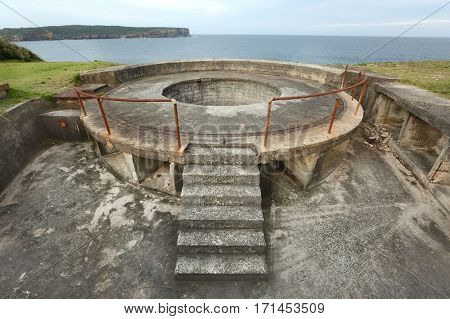 Historic gun platforms in Sydney South Head