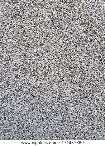 Grey pattern and texture plastic doormat abstract background