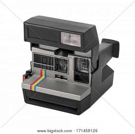 Instant camera isolated on white background