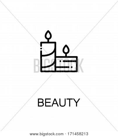 Beauty icon. Single high quality outline symbol for web design or mobile app. Thin line sign for design logo. Black outline pictogram on white background