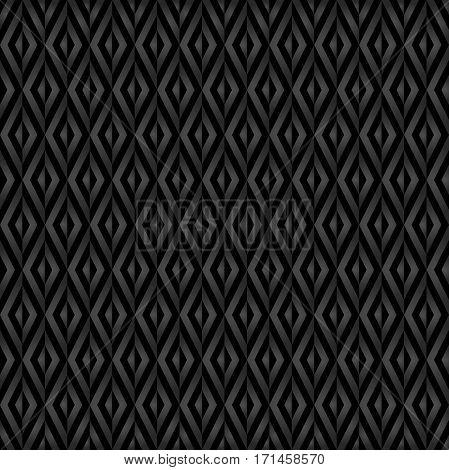 Geometric abstract dark diamond pattern. Seamless modern background